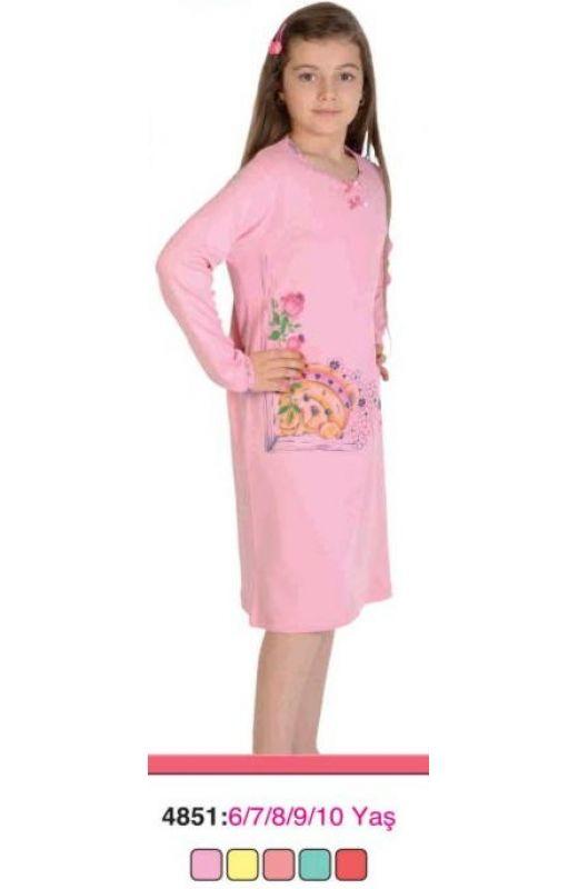 Ночная рубашка для девочки 4851