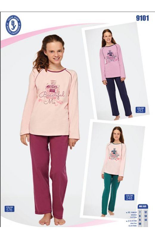 Пижама для девочки 9101