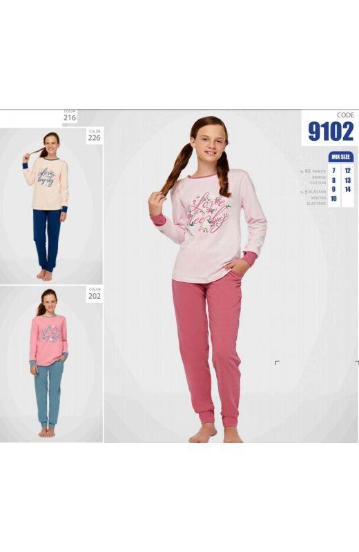Пижама для девочки 9102